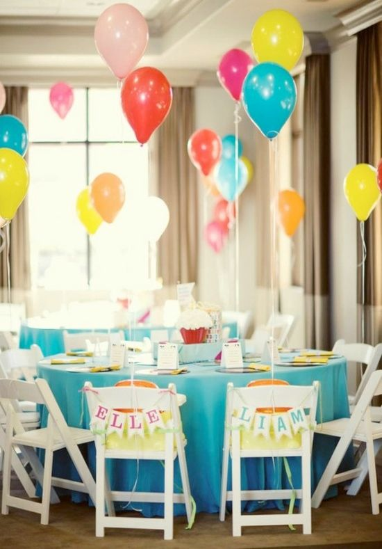 Balloon decoration ideas also best party images christening dessert table rh pinterest