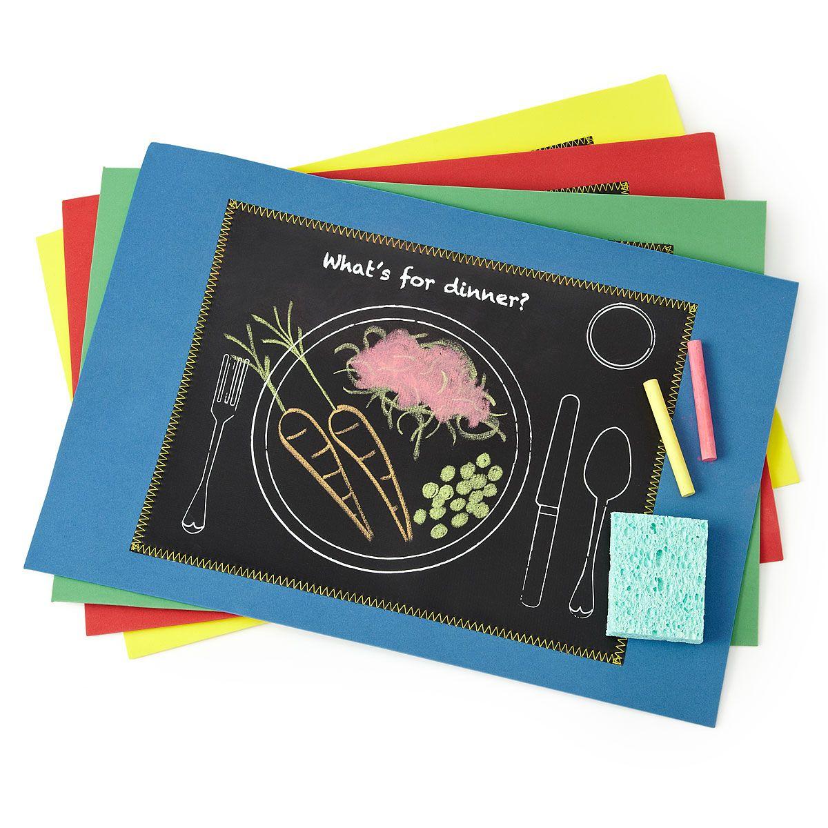 Kids Gifts Chalkboard Placemats Kids Chalkboard Placemats