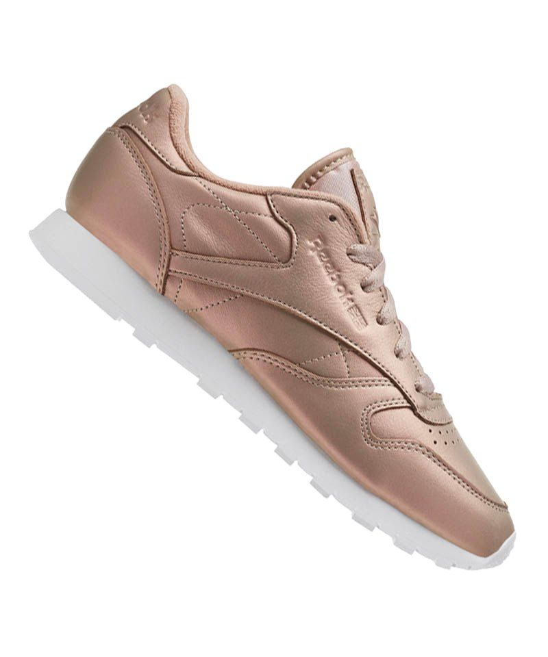 Reebok Classic Leather Pearlized Damen Rosa Weiss Reebok Damen Classic Rosa Leather Pearlized Weiss Schuhe Lifestyle In 2020 Reebok Classic Shoes Drawing Sneakers