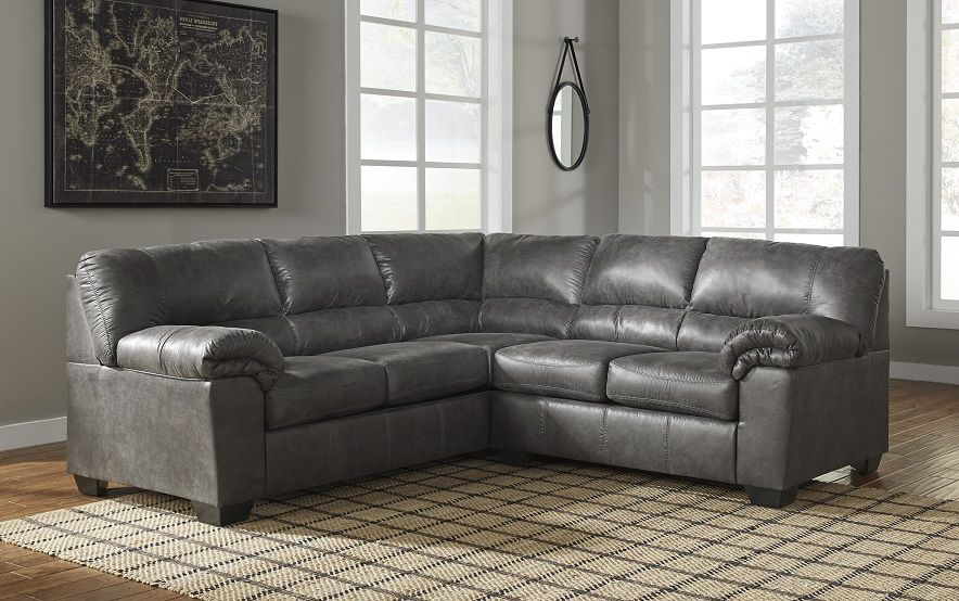 Best Bladen Slate Grey Sectional Country Furniture French 640 x 480