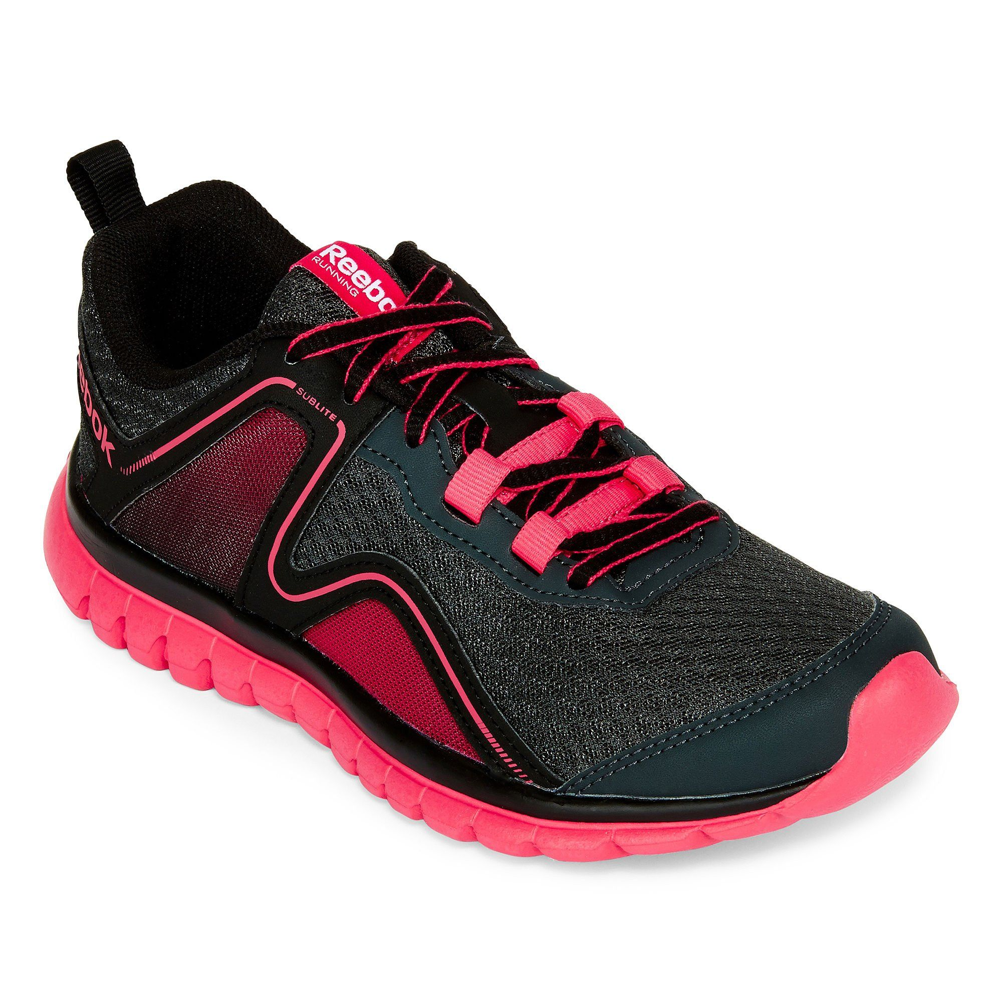 6435d705466f Reebok Sublite Escape 2.0 Womens Running Shoe 9 GravelBlackPink   WomensRunningShoes