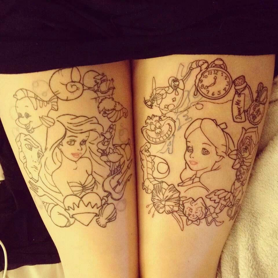 Pics photos dessin anime walt disney la petite sirene tattoo - Disney Tattoo Top De Mogwaii