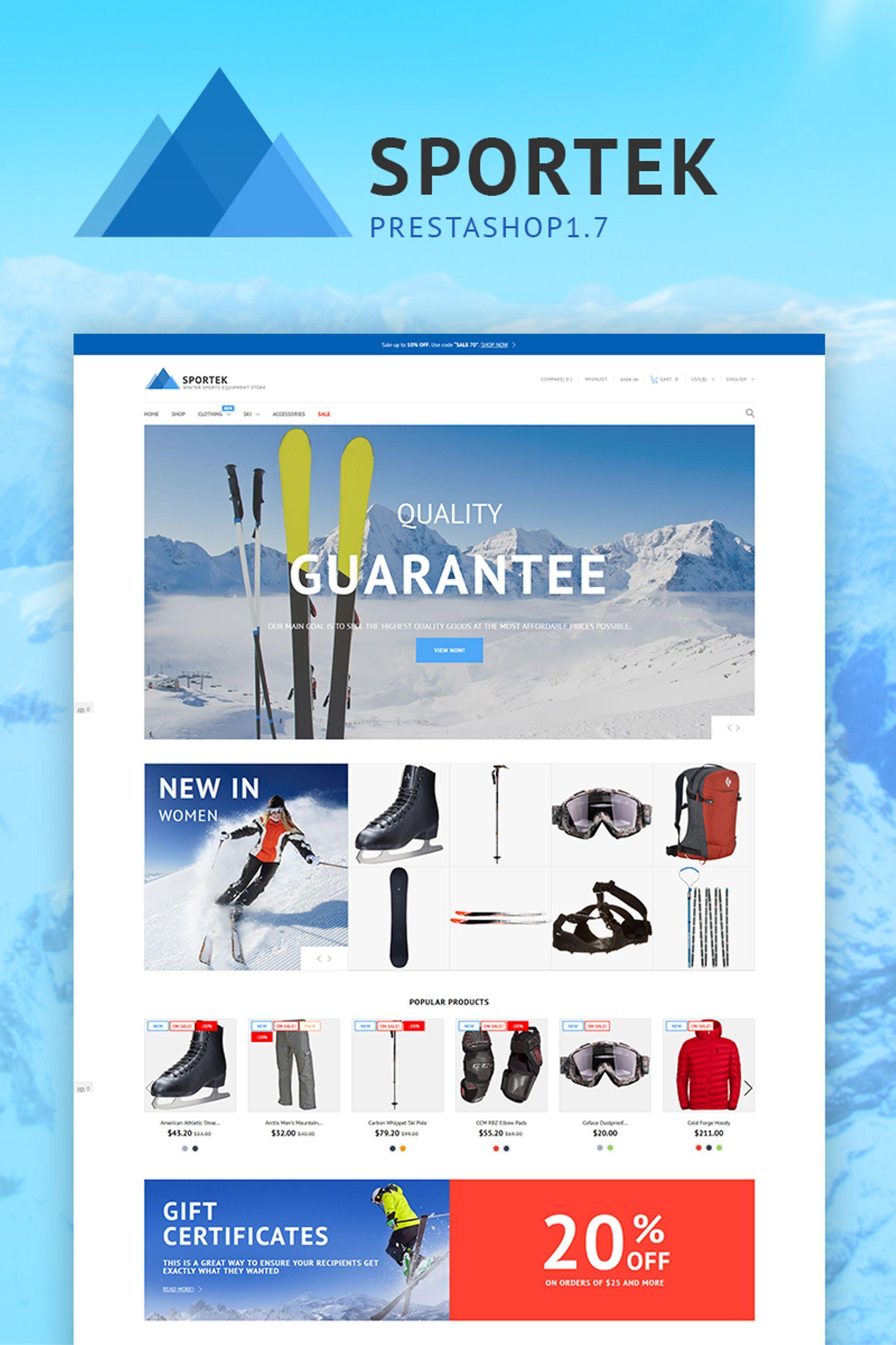Sportek - Winter Sports Equipment Store PrestaShop Theme | Non