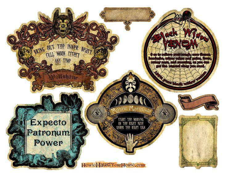 pin von kate magaro auf stenciling and labels pinterest halloween etiketten halloween und. Black Bedroom Furniture Sets. Home Design Ideas