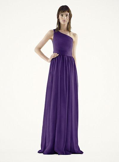Satin Royal Blue Dress Vera Wang