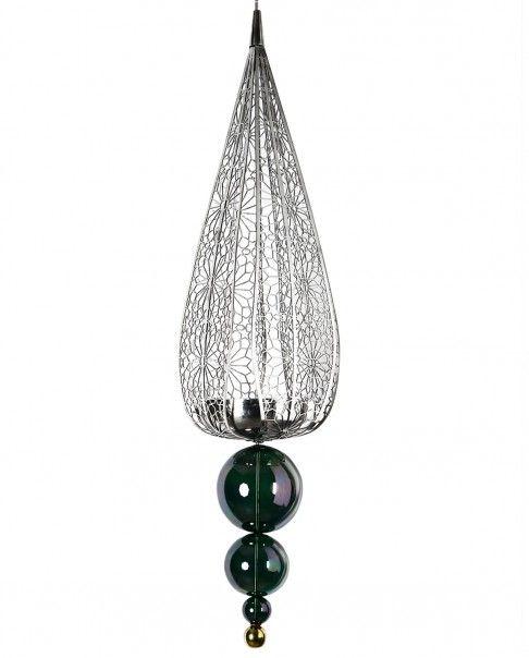 Green Large Ashok Pearl Pendant Light
