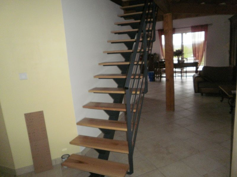 escalier droit fer