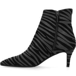 Graue Absatz-Stiefeletten mit Zebramuster (36,37,38,39,40,41,42) Black LabelBlack Label #fallnights