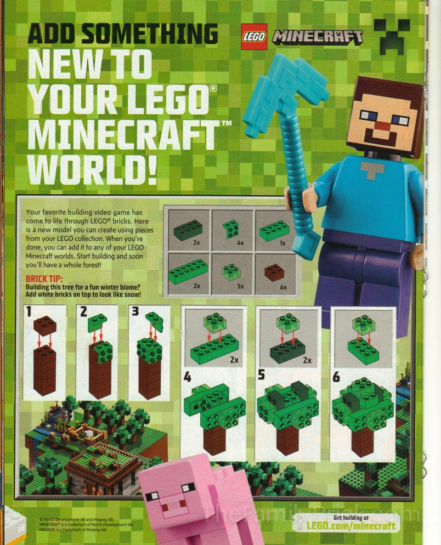 Lego Minecraft Tree Buiid Instructions 0002 Lego Pinterest