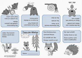 Tiere im Winter - Faltheft | Schule | Pinterest | Winter, Tier und ...