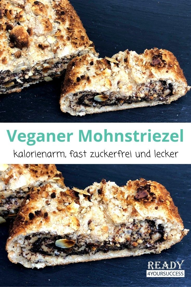 Veganer Mohnstriezel