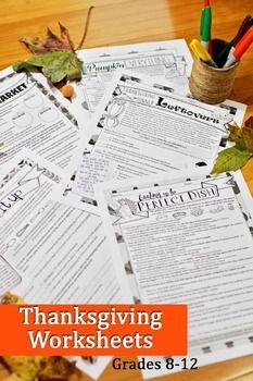 Thanksgiving grammar worksheets no prep middle and high school thanksgiving grammar worksheets no prep middle and high school fandeluxe Gallery