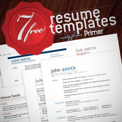 50+ Free Resume \/ CV Templates Various and Sundry Cool Ideas - 2 types of resumes