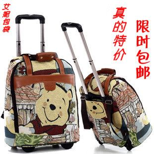 Genuine Trolley Suitcase cartoon female luggage 20 inch 22 inch box Free  Winnie the Pooh cfb6f9f10