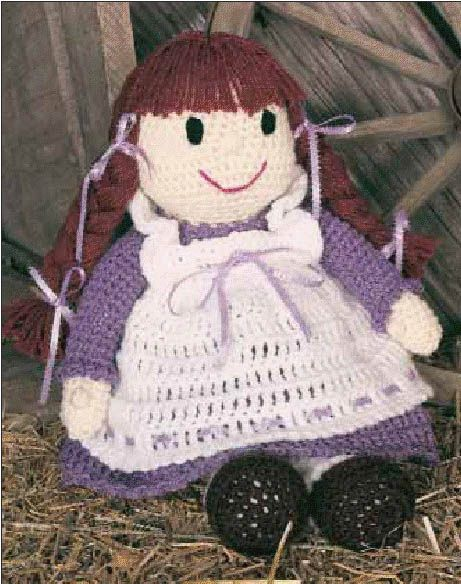 Dolly Donations: Free Beautiful Beginners Crochet Pattern: Pioneer Becky Doll