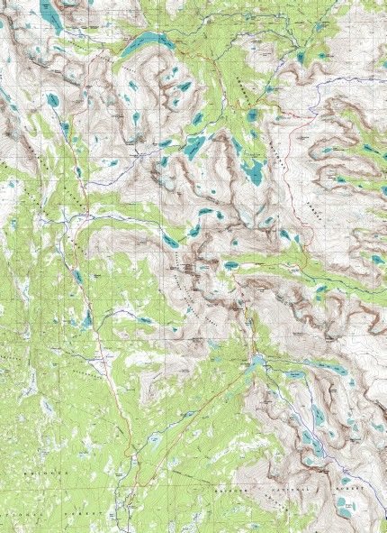 Wind River Trail Maps Wyoming Rode Hiked Packed Ran