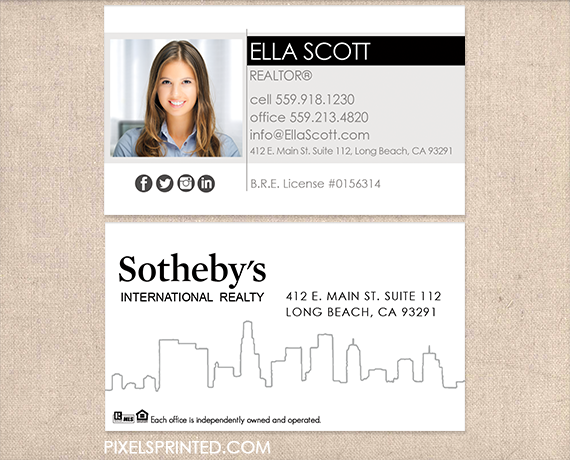 Sothebys business cards realtor business cards real estate sothebys business cards realtor business cards real estate agent business cards simple modern reheart Image collections