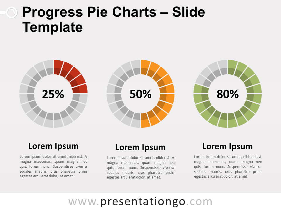 Progress Pie Charts For Powerpoint And Google Slides Powerpoint Charts Powerpoint Slide Designs Powerpoint