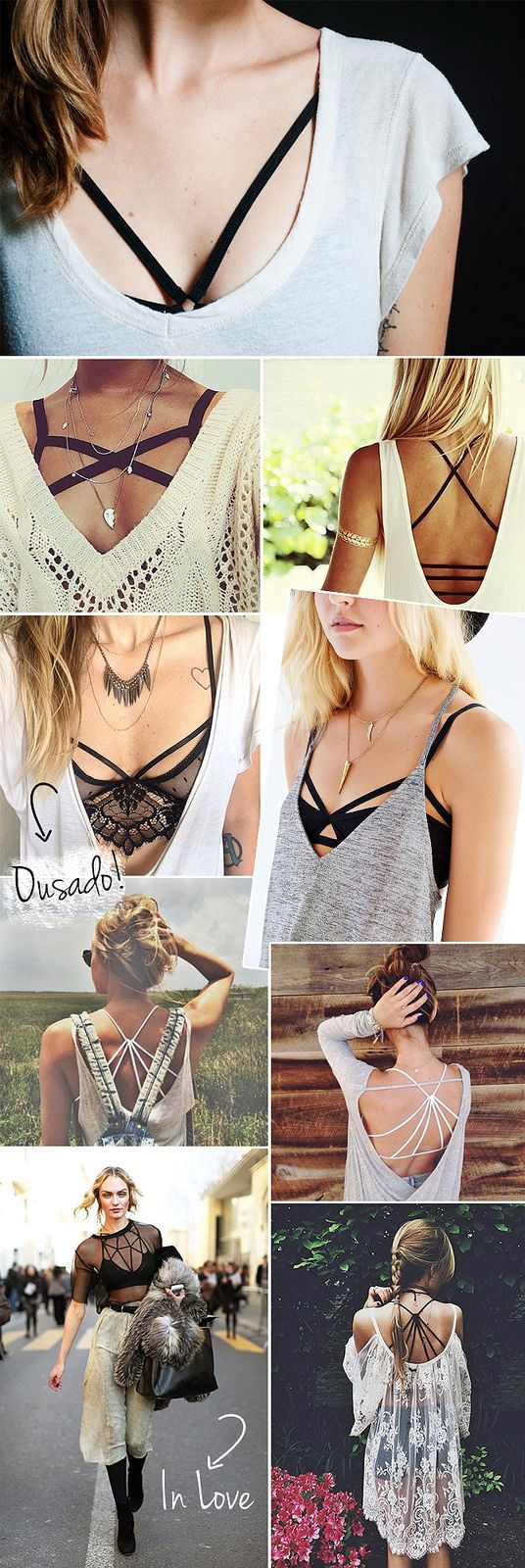 1c3fea9d9b325 How to style a strappy bra (think of it as the fishnet trend for your torso)