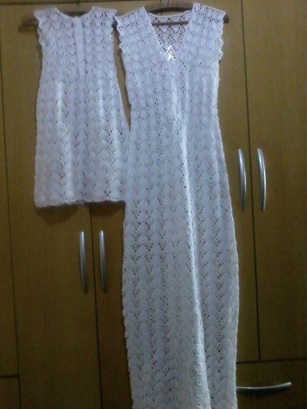 Vestido de croche -Noiva