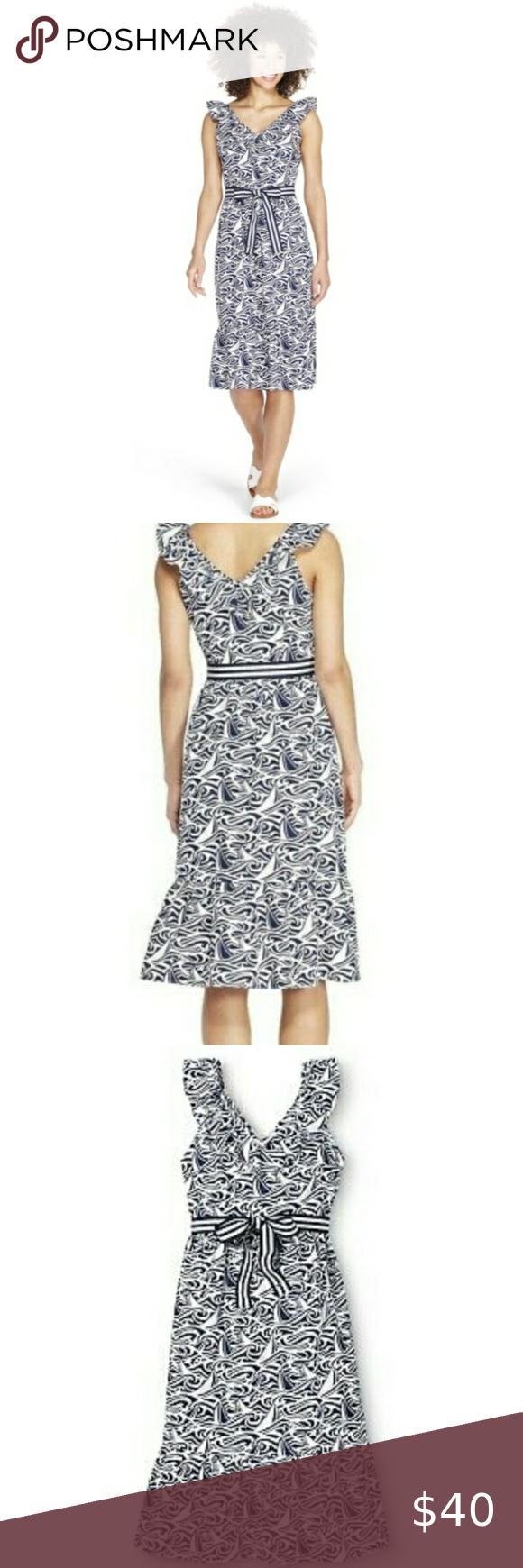 Nwot Vineyard Vines Sleeveless Ruffled Dress Dresses Clothes Design Womens Dresses [ 1740 x 580 Pixel ]