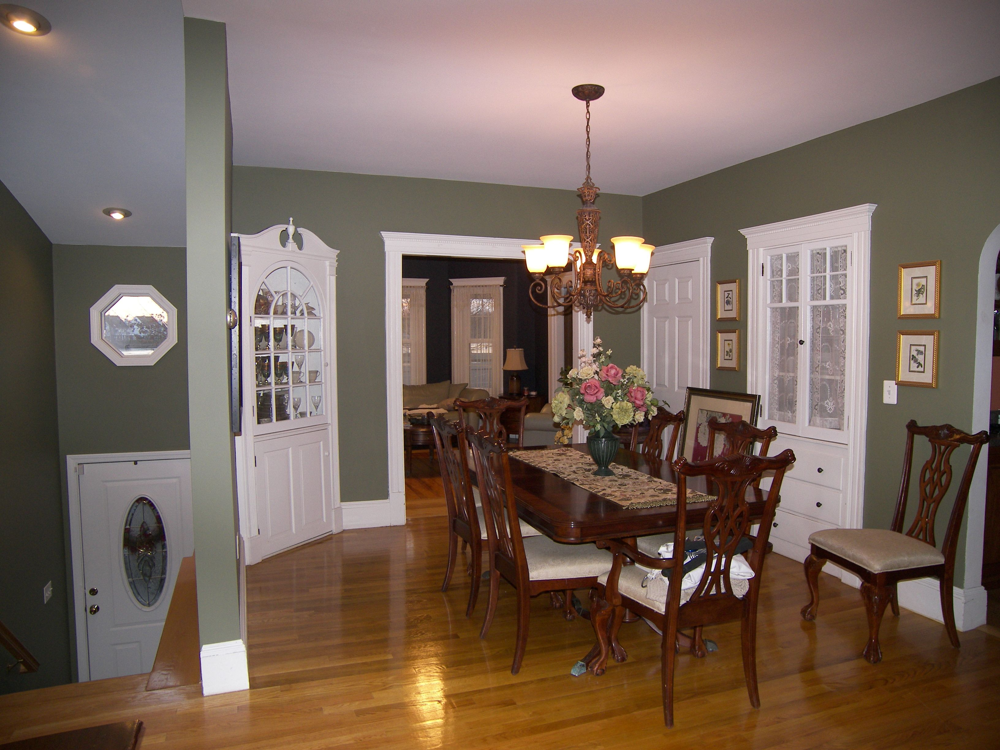 Color: Tate Olive, new living room color. Nice green color option ...