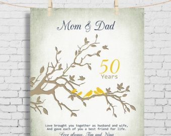 40th Anniversary Gift For Parents 8x10 By KreationsbyMarilyn 50th Wedding