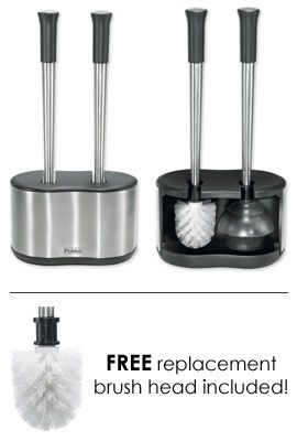 A Toilet Brush Plunger Neatly Enclosed Readily Accessible In A Very Stylish Case Love It Household Gadgets Bath Caddy Gadgets And Gizmos