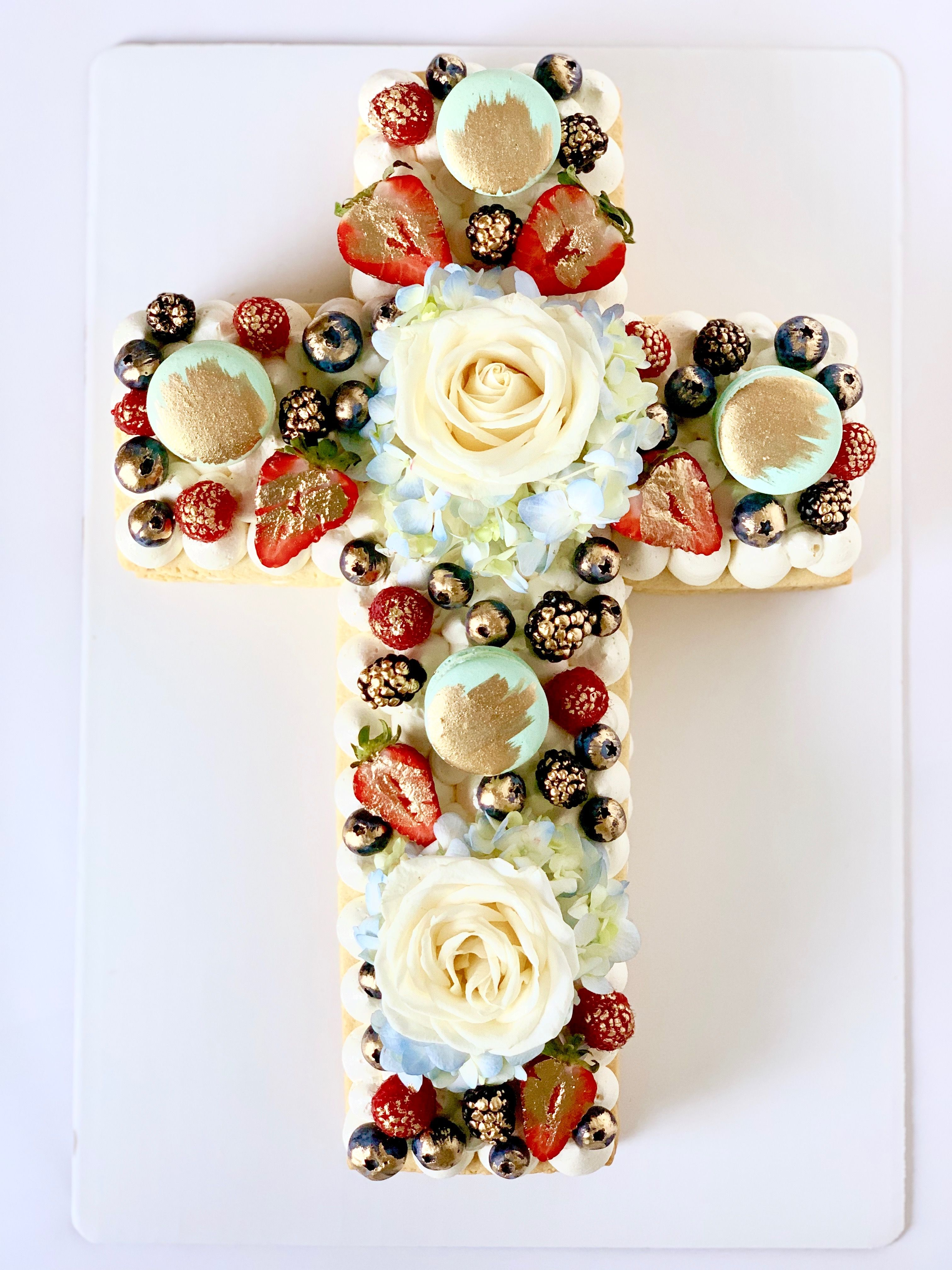 Cross cookie cake number cake easter themed cakes cross