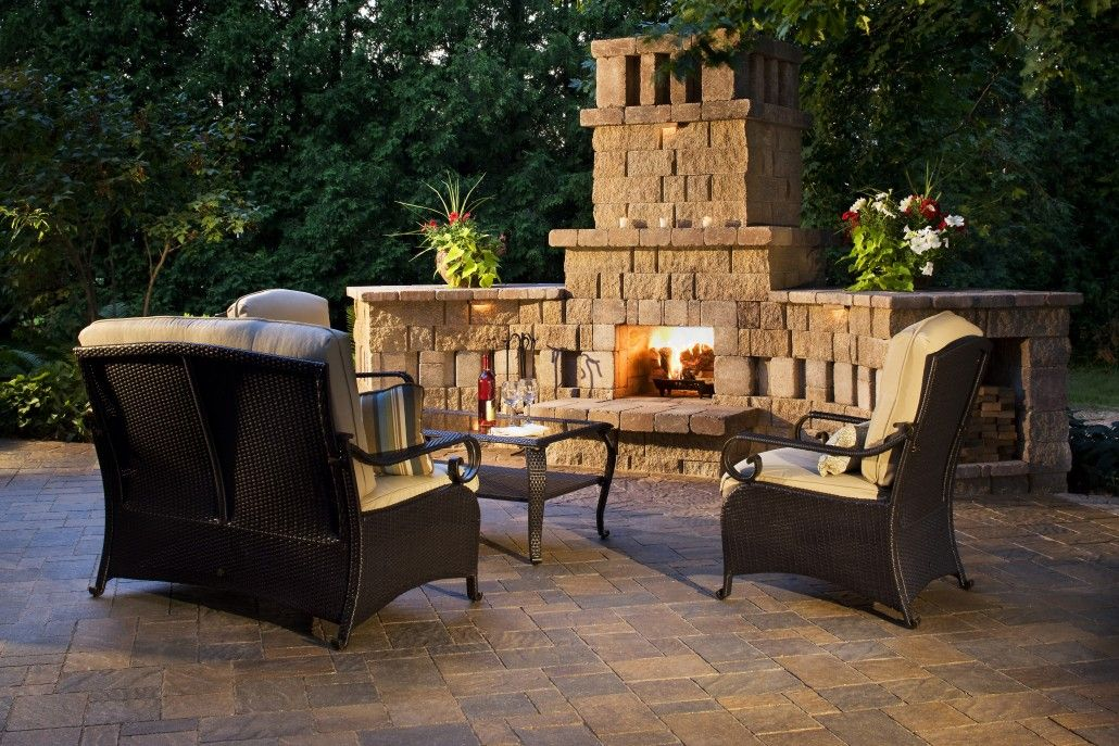 Allied Outdoor Solutions Pavers Gallery Before And After Pictures Of Paver Driveways Pati Outdoor Fireplace Designs Outdoor Living Design Backyard Fireplace