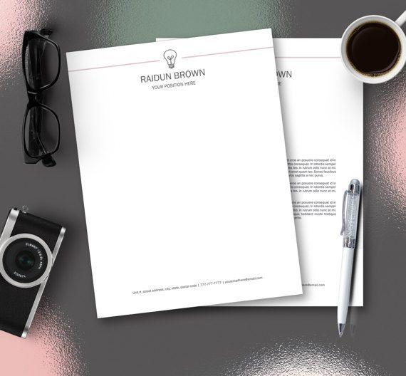 Personalized Letterhead Letterhead Template by DocumentFolder - personal letterhead template