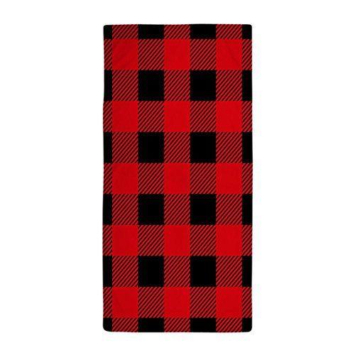 Cafepress Red Black Check Pattern Large Beach Towel Https