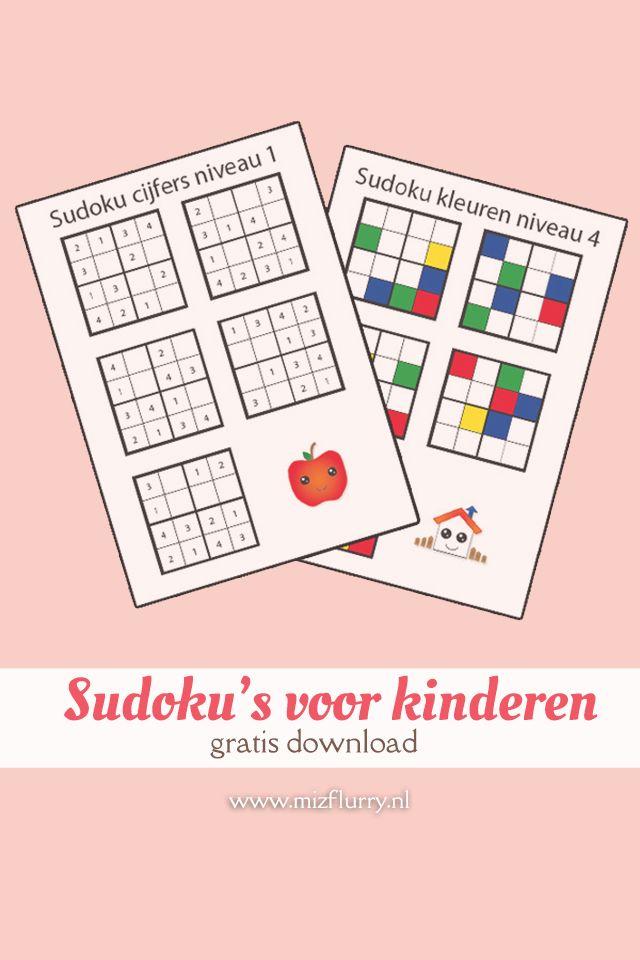 Sudoku's voor kinderen (gratis download)   werk - Kids ...