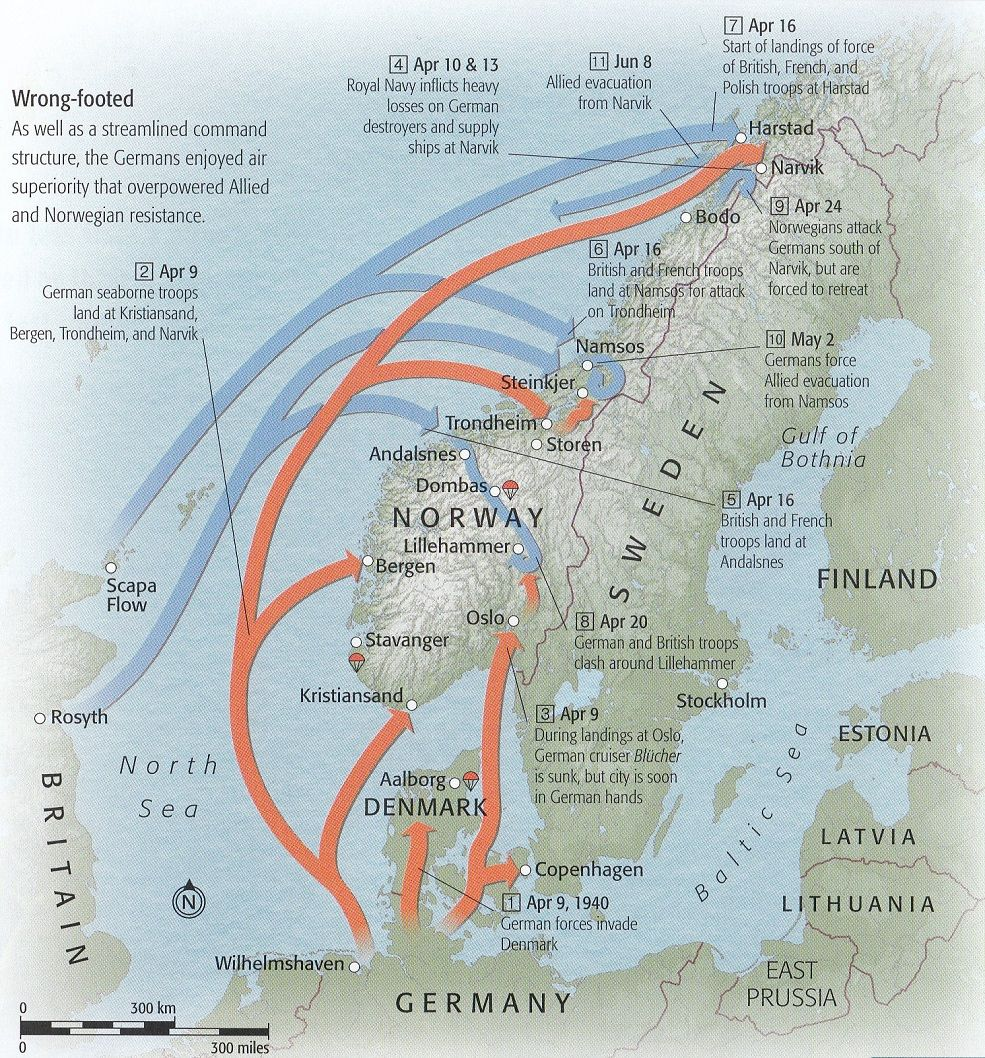 Ww2 german invasion of norway and denmark maps pinterest ww2 german invasion of norway and denmark gumiabroncs