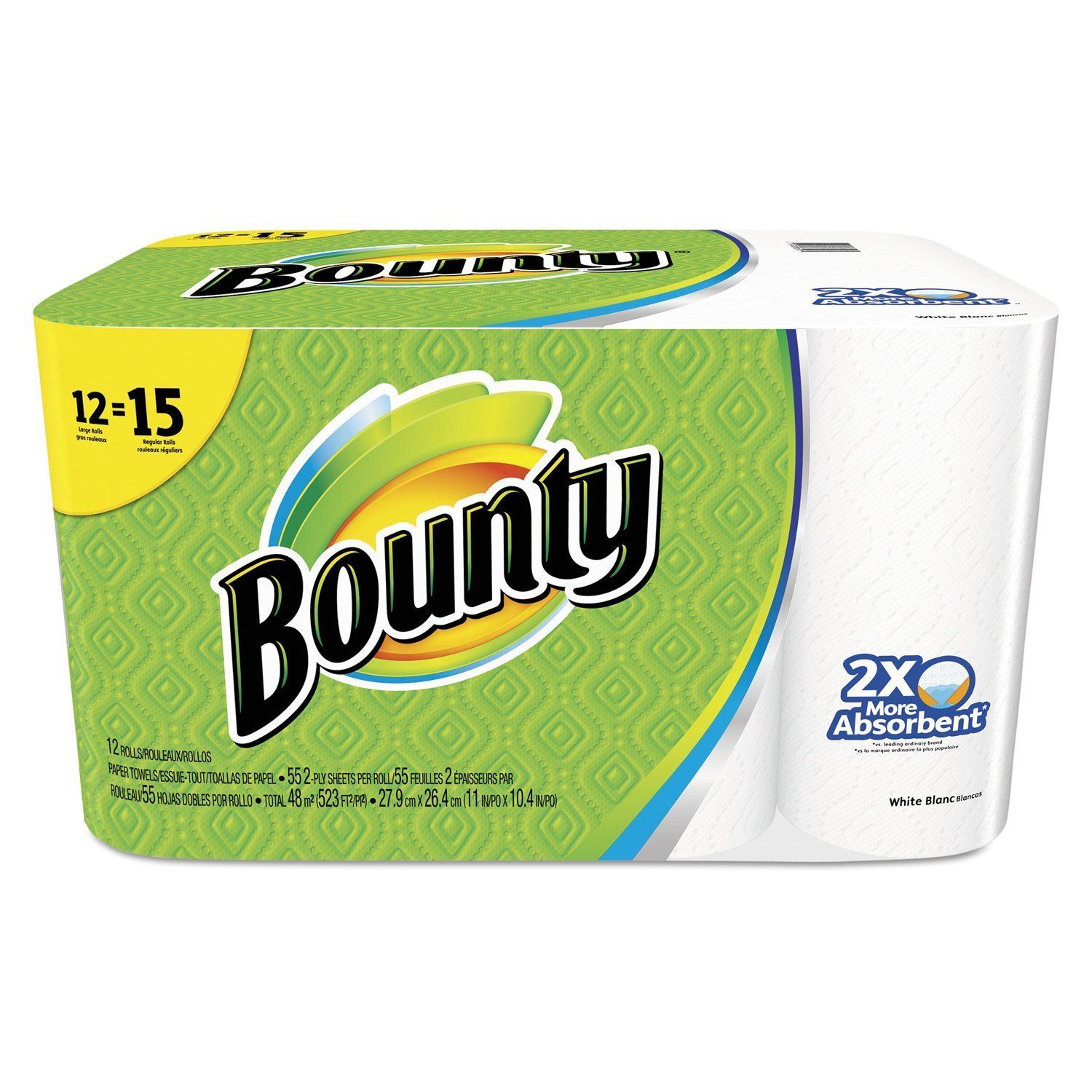Bounty 88197 perforated paper towel rolls pack of 12