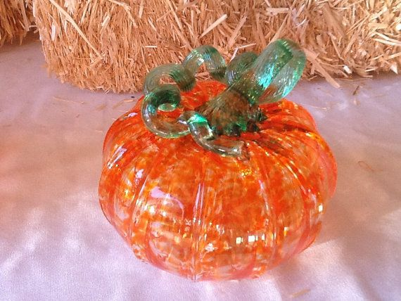 Hand Blown Glass Pumpkins Made In Corning Ny By Smithglass On Etsy