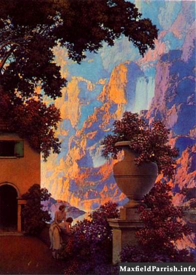 Sunrise Maxfield Parrish