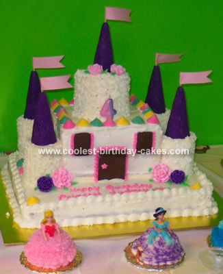 Coolest Castle Cake Disney princess party Princess party and Princess