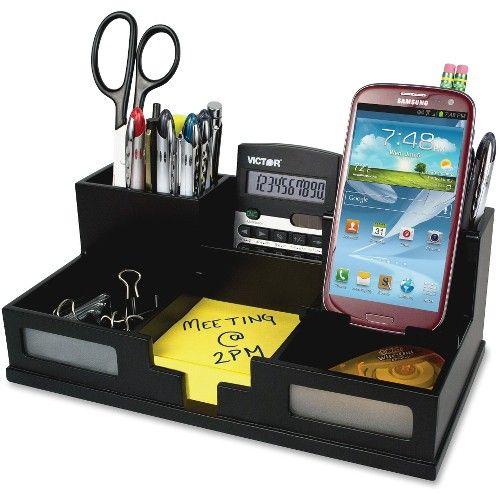 Best Victor 9525 5 Midnight Black Desk Organizer With Smart 400 x 300