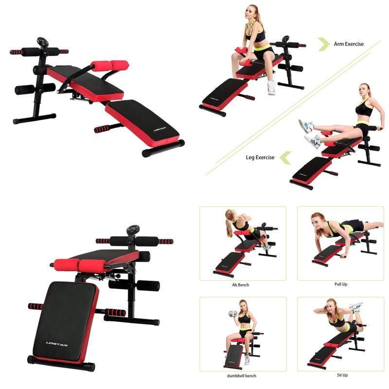 Adjustable Sit Up Ab Bench Foldable Decline Bench Home Gym Workout Abs Exercise Ebay Link Abs Workout Bench Ab Workout Bench Workout