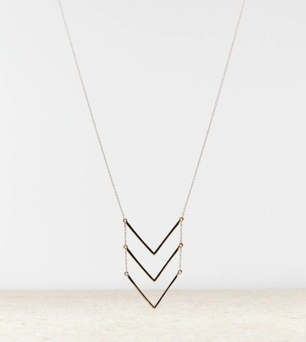 AEO Chevron Stacked Necklace | American Eagle Outfitters