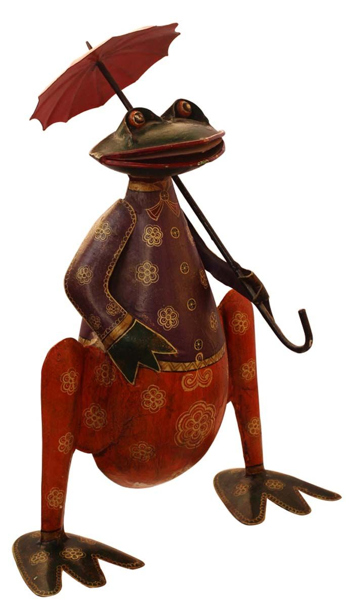 "Bulk Wholesale Handmade 17"" Cute Iron Figurine / Art-Piece of Frog ..."
