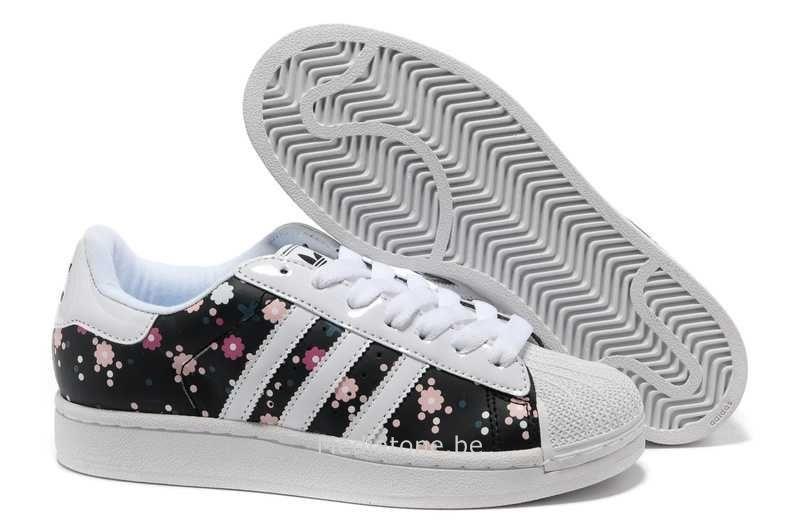Adidas Superstar Fleur Bleu