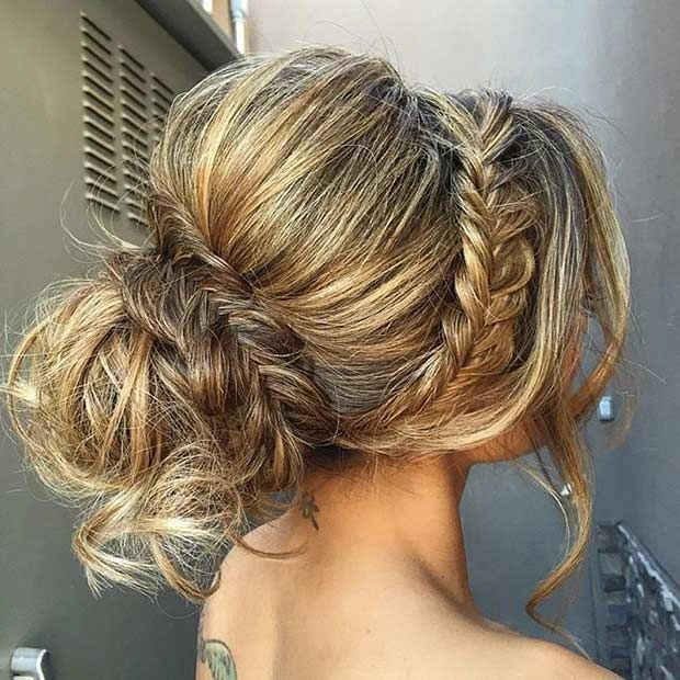 35 gorgeous updos for bridesmaids fishtail updo fishtail and updo 35 gorgeous updos for bridesmaids urmus Choice Image
