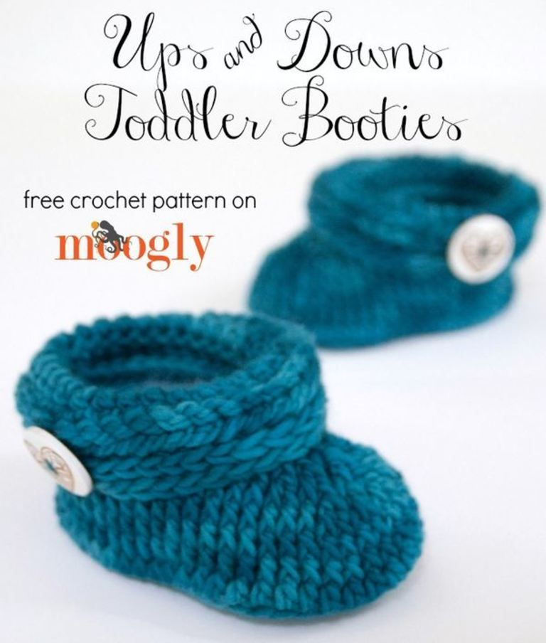 Ups and Downs Toddler Booties | Zapatitos crochet, Bebé y Zapatos