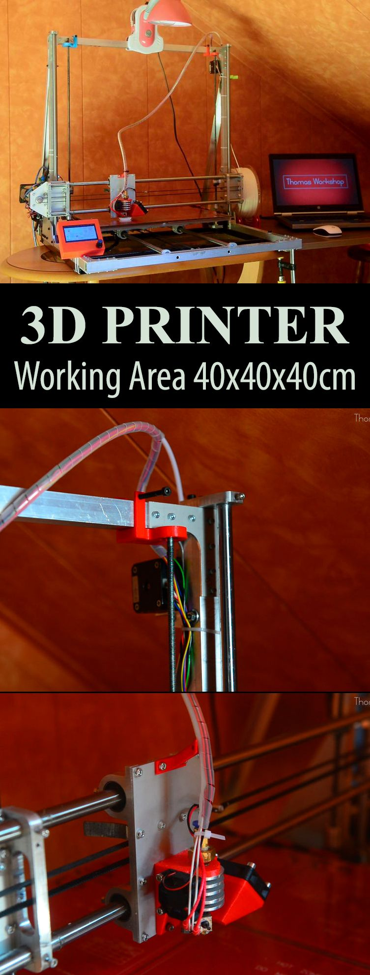 3d printer working area 40x40x40cm build a 3d printer