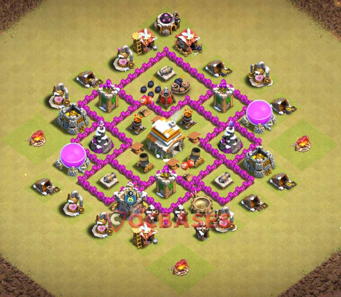 Coc Th 6 Best War Base 4