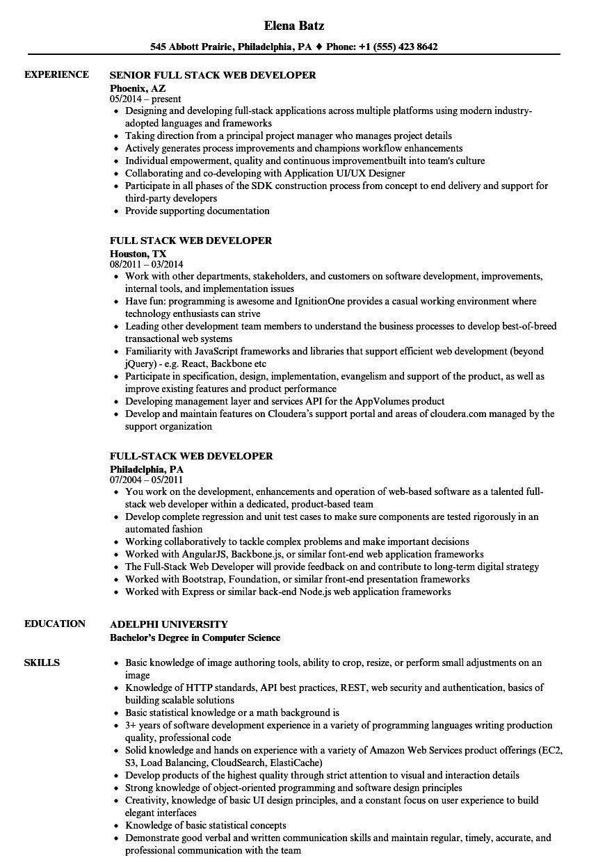 Java Full Stack Developer Resume Lovely 12 13 Web Developer Resume