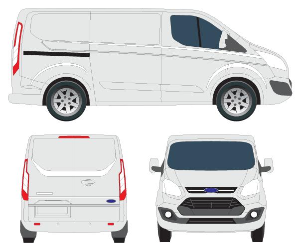 Vector Transit Custom Tourneo Transit Custom Ford Transit Car Vector