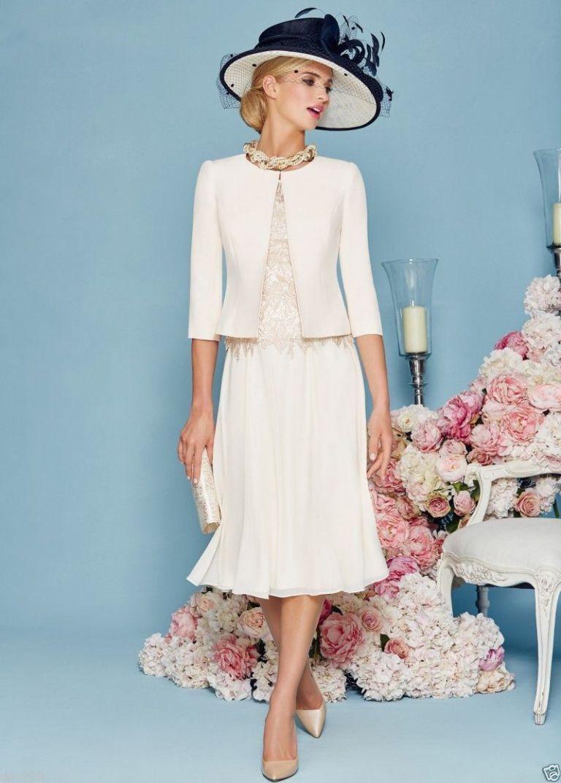 Sheath Column Knee-length Chiffon Mother of the Bride Dress | Bride ...